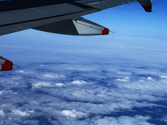 nuages vu de l'avion