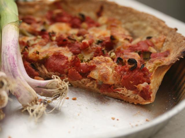 tarte tomates mozzarella thon aillet